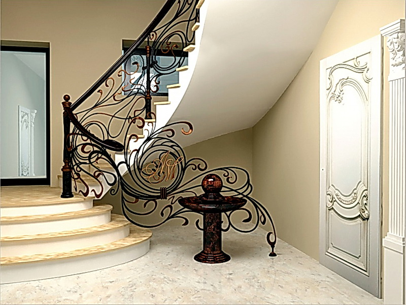 Кованые винтовые лестницы N 3-3566