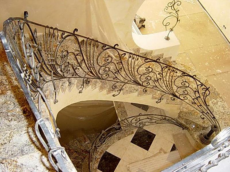 Кованые винтовые лестницы N 3-3569