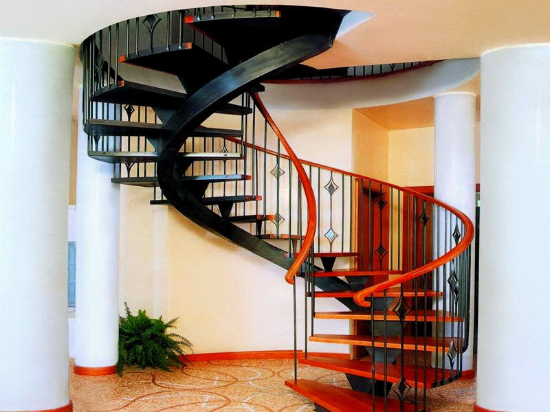 Кованые винтовые лестницы N 3-3570