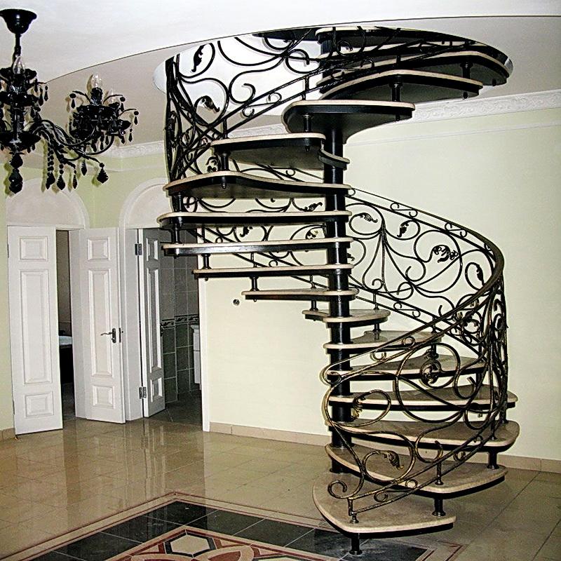 Кованые винтовые лестницы N 3-3571