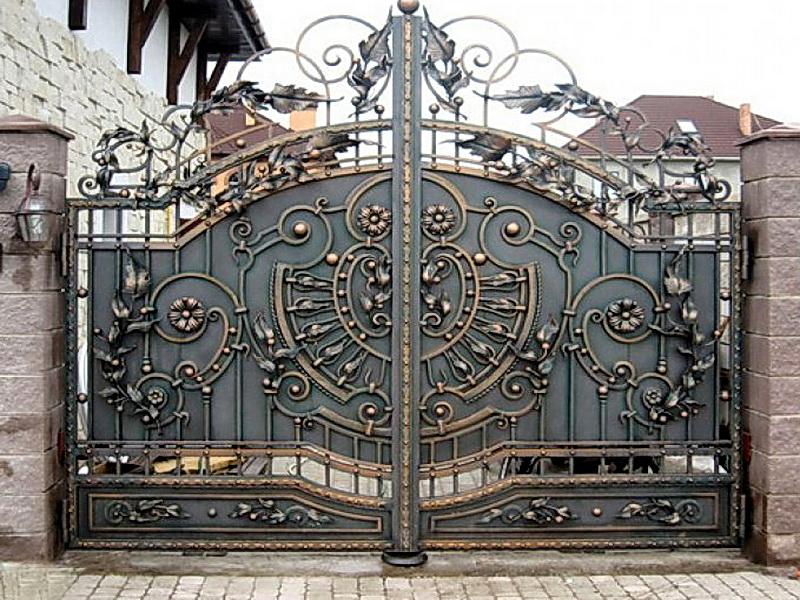 Кованые ворота N 1001