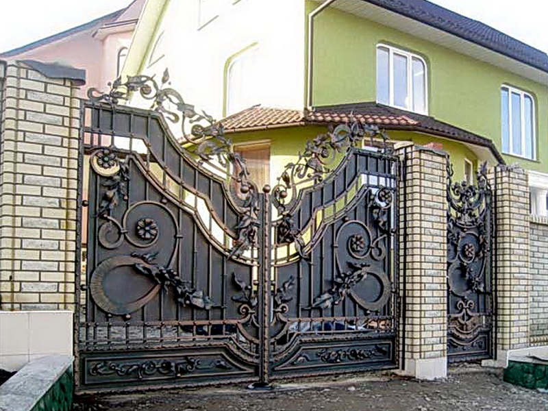 Кованые ворота N 1002