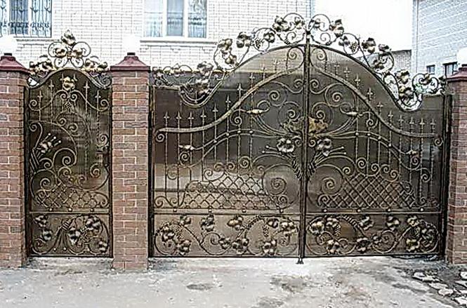 Кованые ворота N 1005