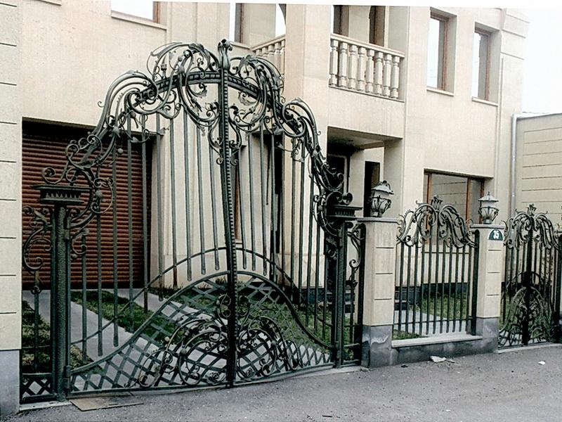 Кованые ворота N 1006