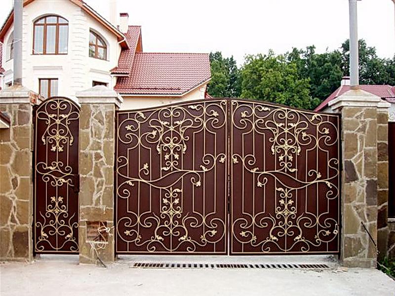 Кованые ворота N 1008