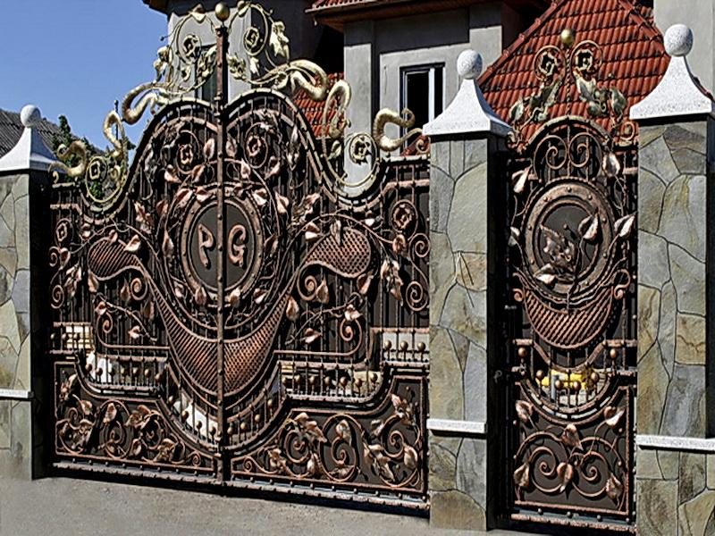 Кованые ворота N 1014