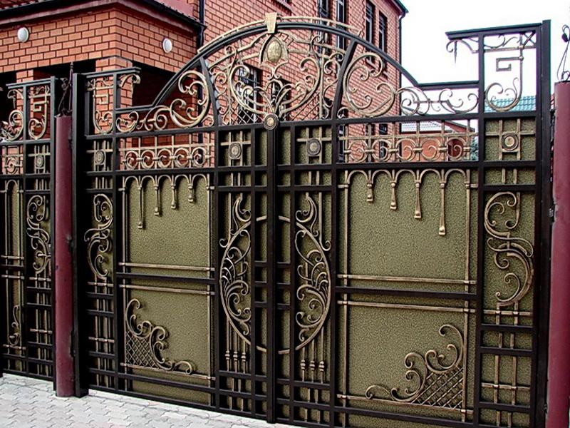 Кованые ворота N 1015