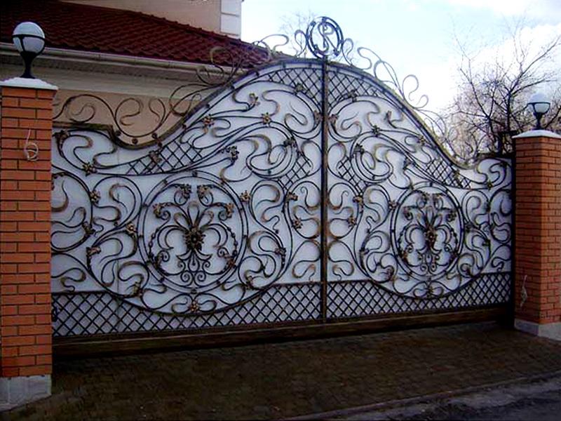 Кованые ворота N 1016