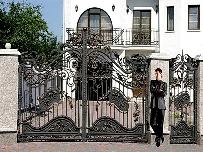 Кованые ворота N 1017