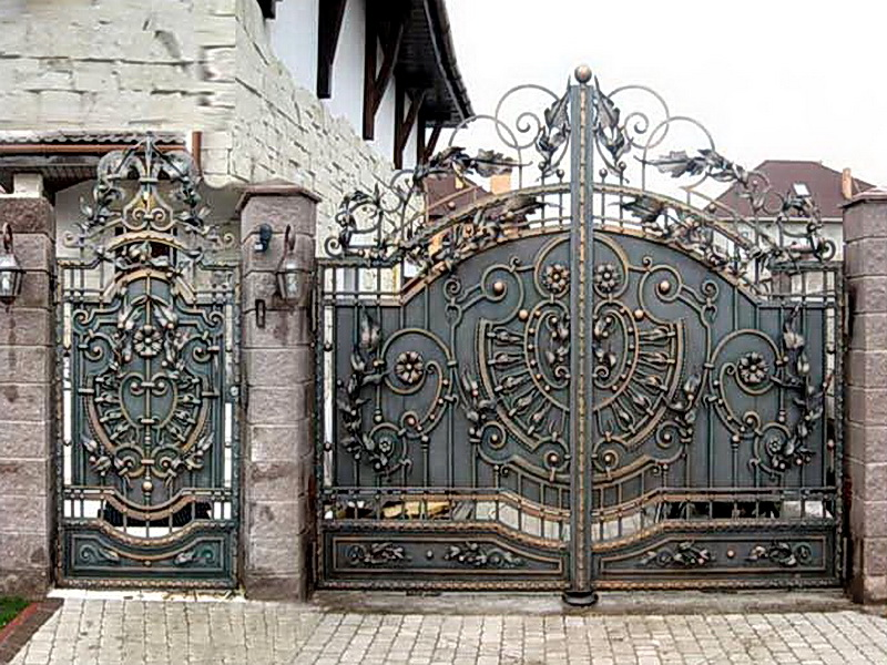 Кованые ворота N 1019