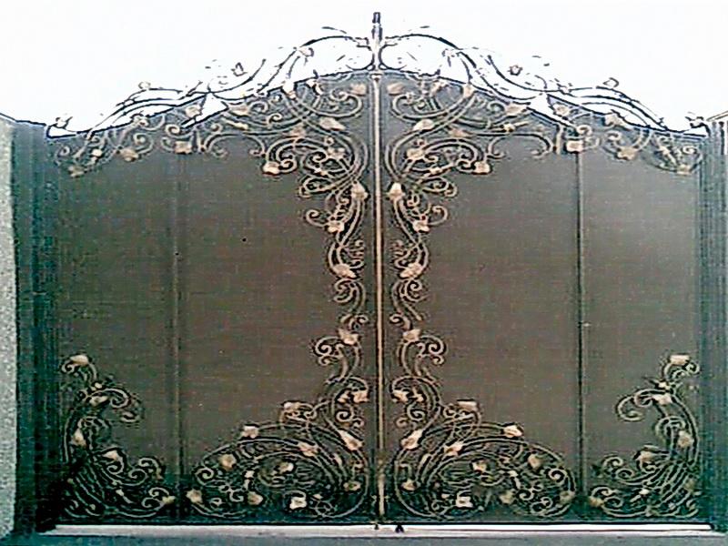 Кованые ворота N 1021