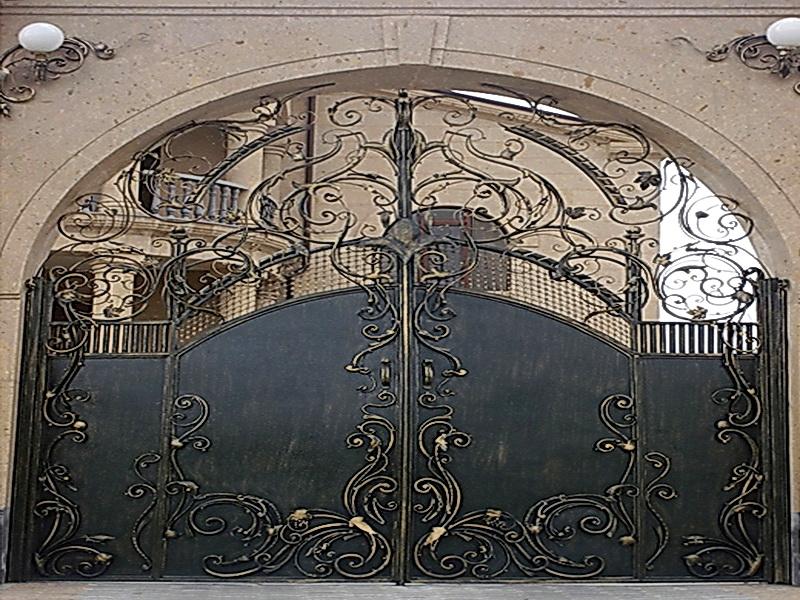 Кованые ворота N 1022