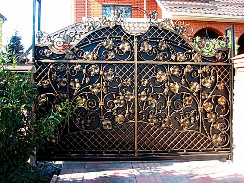 Кованые ворота N 1030