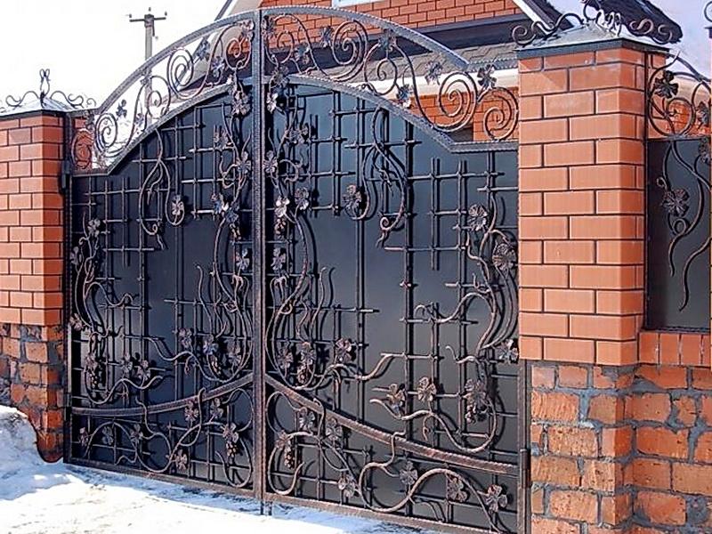 Кованые ворота N 1033
