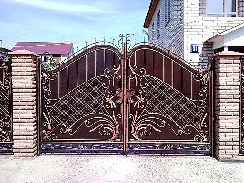 Кованые ворота N 1034