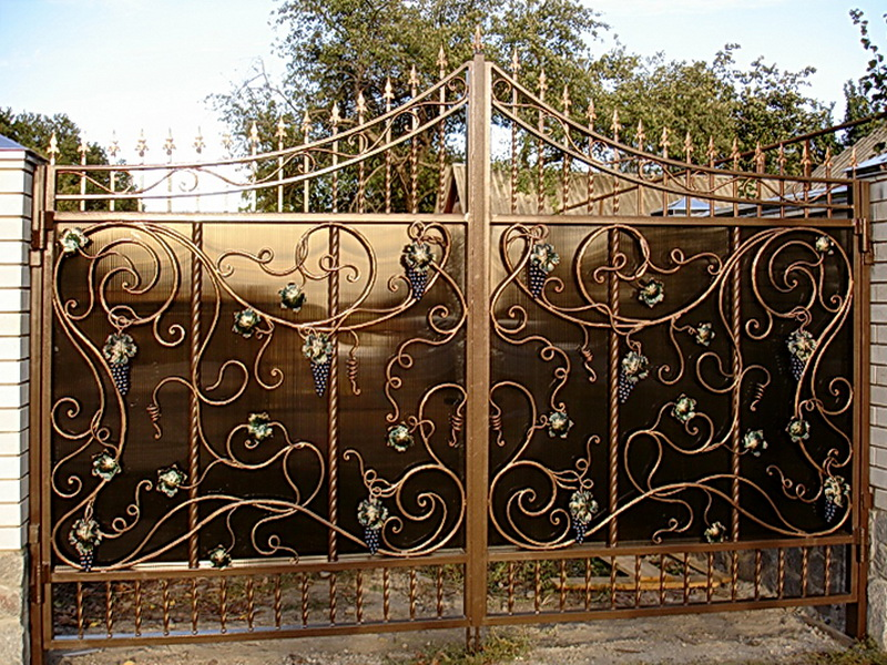 Кованые ворота N 1035