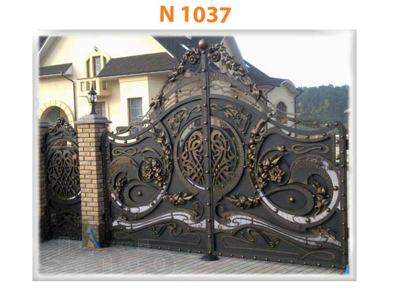 Кованые ворота N 1037