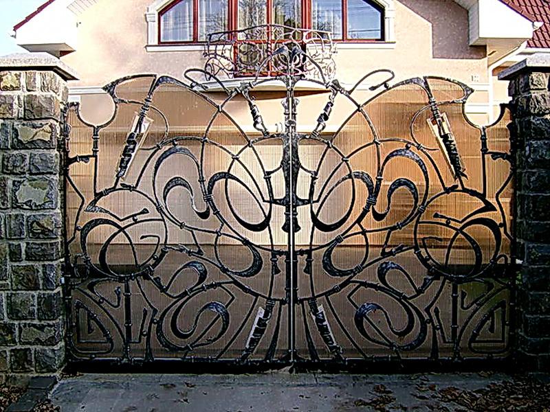 Кованые ворота N 1039