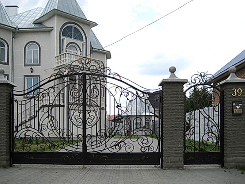 Кованые ворота N 1043
