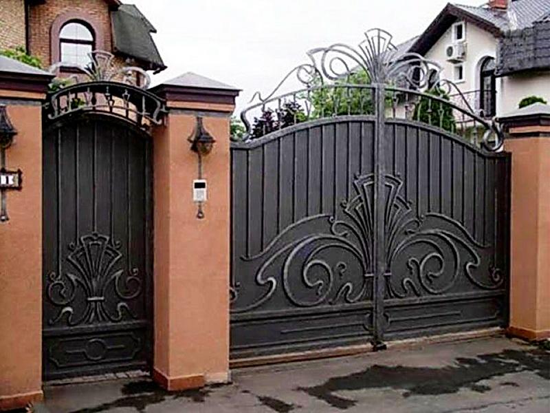 Кованые ворота N 1045