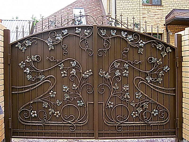 Кованые ворота N 1046