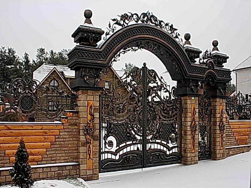Кованые ворота N 1047