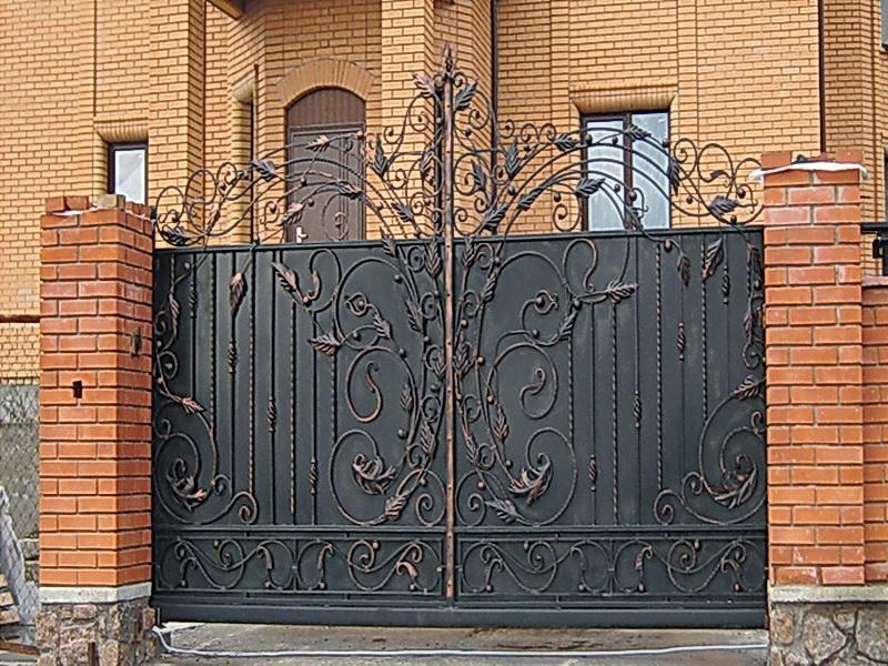 Кованые ворота N 1048