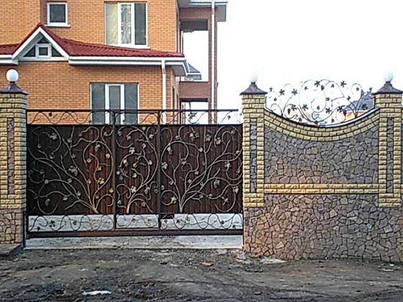 Кованые ворота N 1050