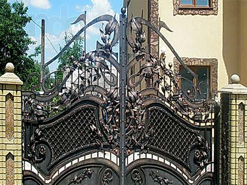 Кованые ворота N 1052