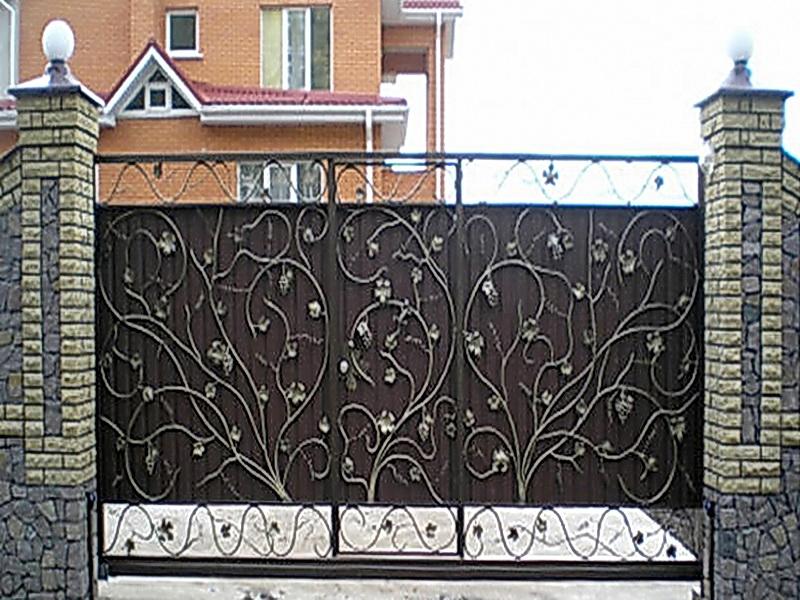 Кованые ворота N 1054