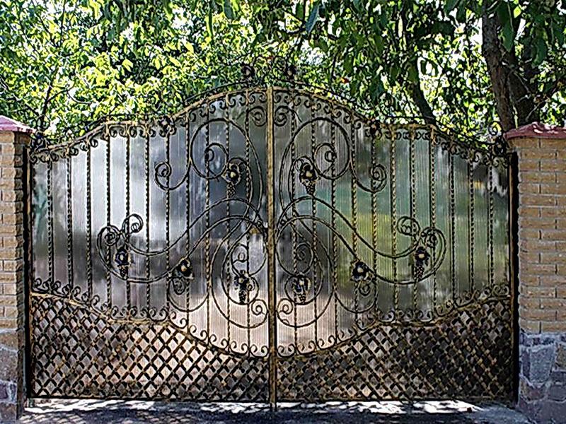 Кованые ворота N 1056