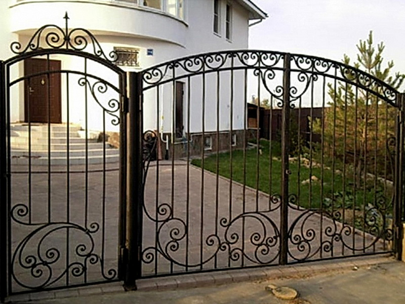 Кованые ворота N 1057