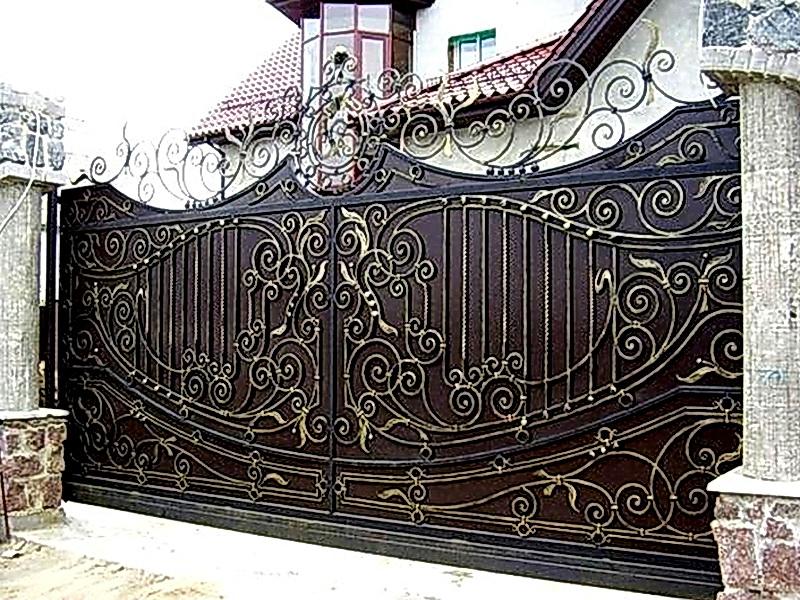 Кованые ворота N 1061
