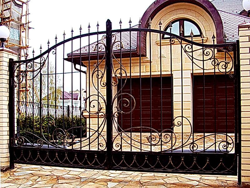 Кованые ворота N 1062