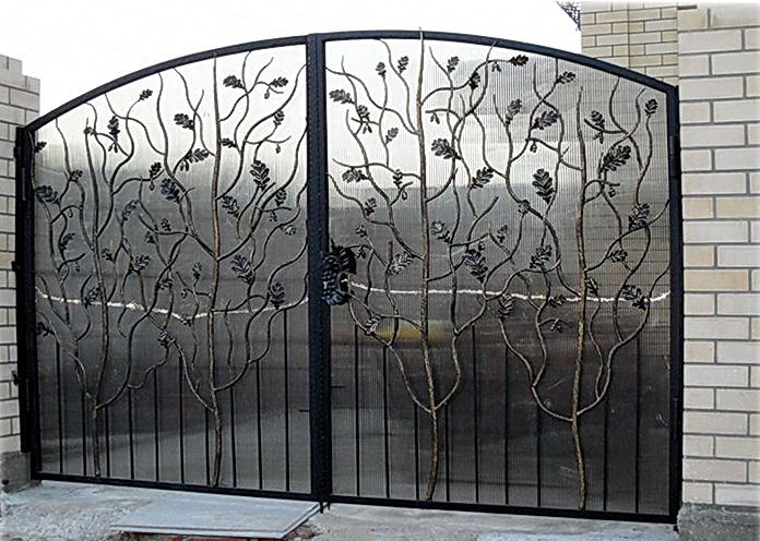 Кованые ворота N 1066