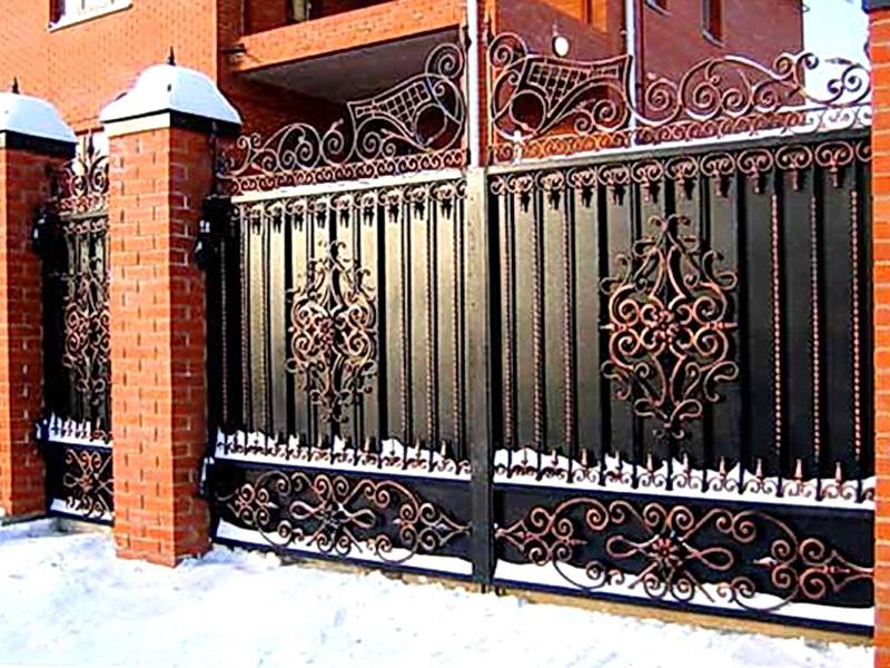 Кованые ворота N 1068