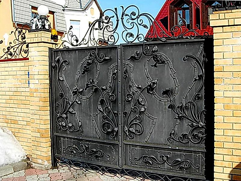 Кованые ворота N 1069