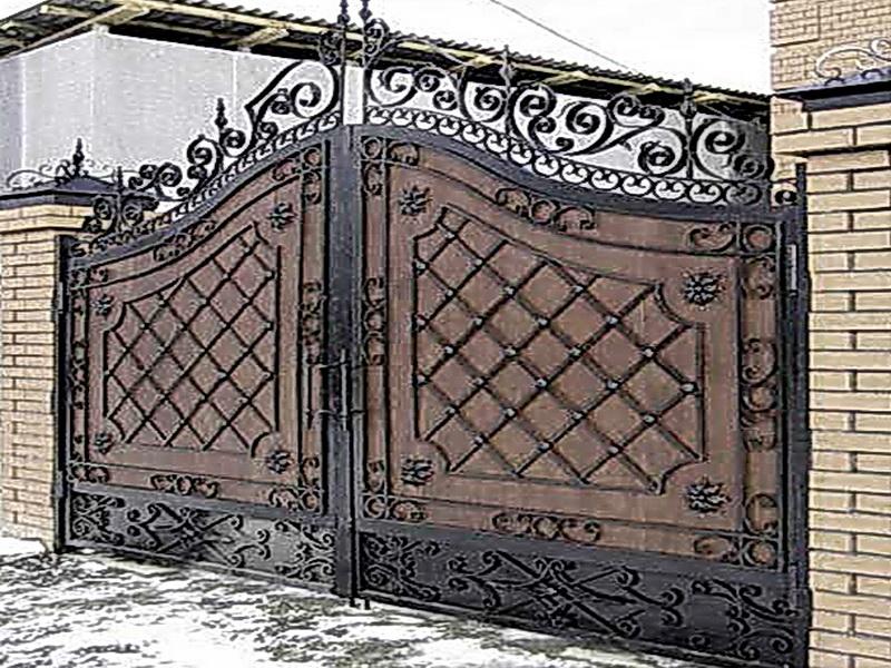 Кованые ворота N 1072