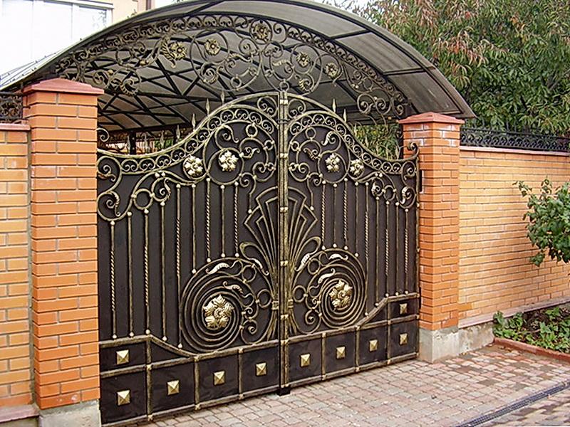 Кованые ворота N 1073