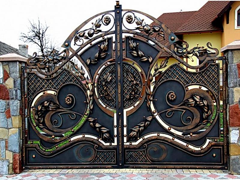 Кованые ворота N 1074
