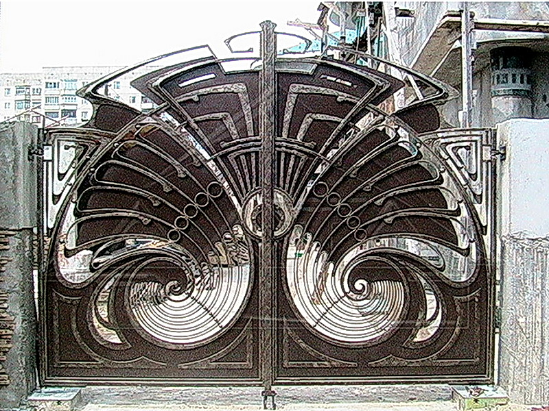 Кованые ворота N 1076