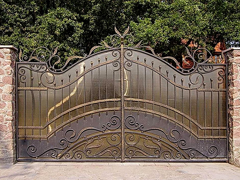 Кованые ворота N 1077
