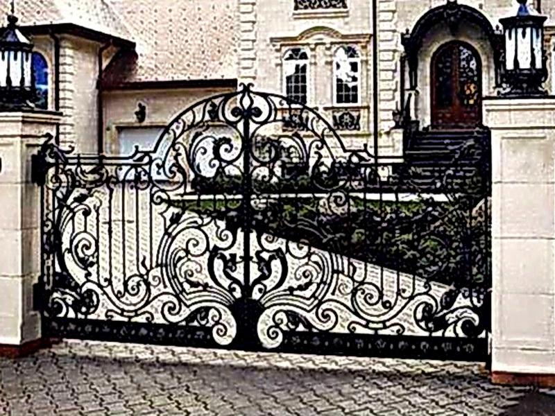 Кованые ворота N 1080