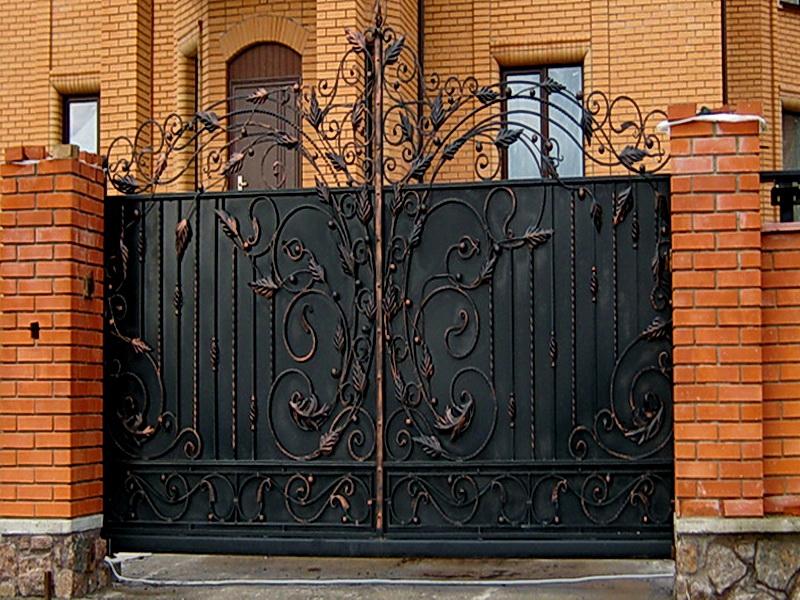 Кованые ворота N 1082