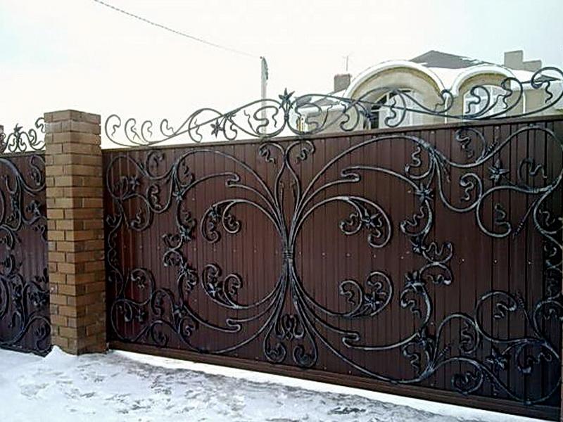 Кованые ворота N 1083