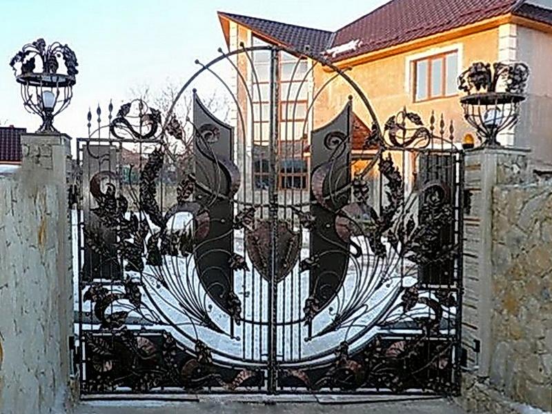 Кованые ворота N 1086