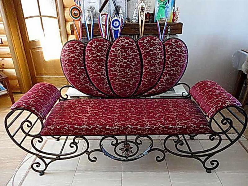 Кованый диван N 15006