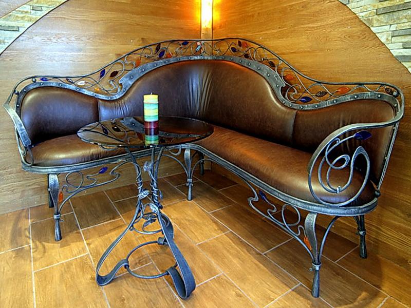Кованый диван N 15008