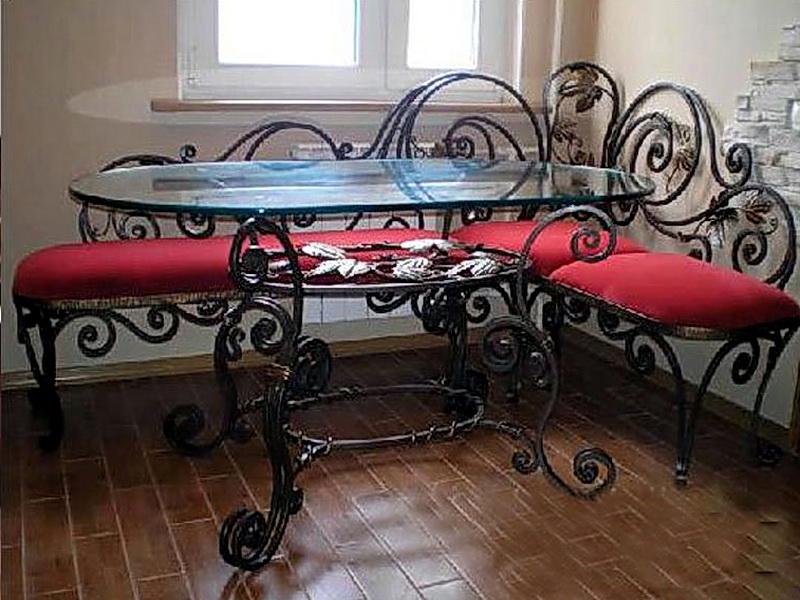 Кованый диван N 15009