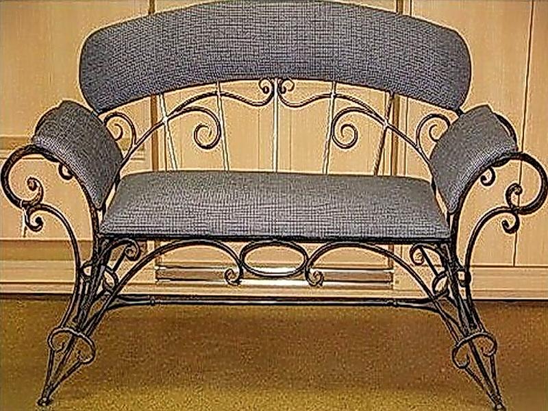 Кованый диван N 15015